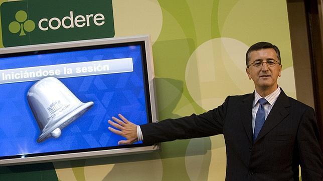 José Antonio Martínez Sampedro, presidente de Codere, el día de la salida a Bolsa de Coder