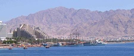 Eliat, ciudad turística israelita en el Mar Rojo